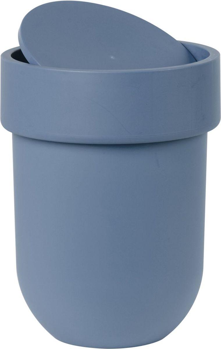 Контейнер мусорный Umbra Touch, с крышкой, цвет: дымчато-синий, 19,5 х 19,5 х 30 см023269-755Лаконичный и простой контейнер из полипропилена. Оснащен удобной крышкой, которая аккуратно скрывает мусор. Дизайн: Alan Wisniewski