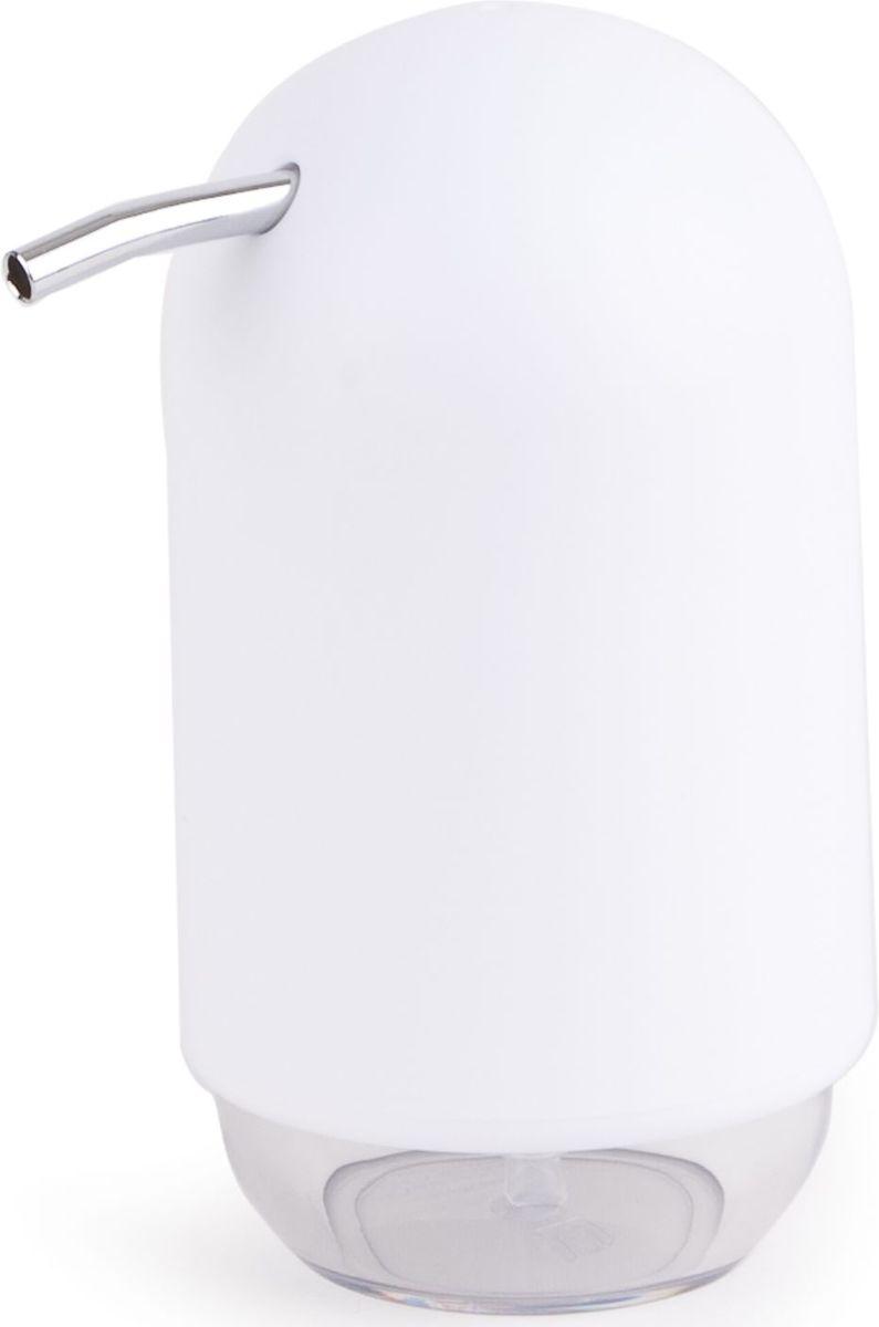 Диспенсер для мыла Umbra Touch, цвет: белый, 14 х 9 х 7 см023273-660Мыло душистое, полотенце пушистое - если мыть руки, то с этим слоганом. Потому что приятно пахнущее мыло, например, ванильное или земляничное, поднимает настроение. А если оно внутри красивого диспенсера, который поможет отмерить нужное количество, это вдвойне приятно. Те, кто покупает жидкое мыло, знают, что очень часто оно продается в некрасивых упаковках или очень больших бутылках, которые совершенно неудобно ставить на раковину. Проблема решена вот с таким лаконичным симпатичным диспенсером. Теперь вы не забудете вымыть руки перед едой! Обратите внимание на прозрачную нижнюю часть: благодаря ей вы сразу увидите, если мыло кончается, и сможете пополнить резервуар. Объем - 235 мл. P.S. (Важная подсказка): диспенсер также можно использовать на кухне для моющего средства, получается очень экономно.