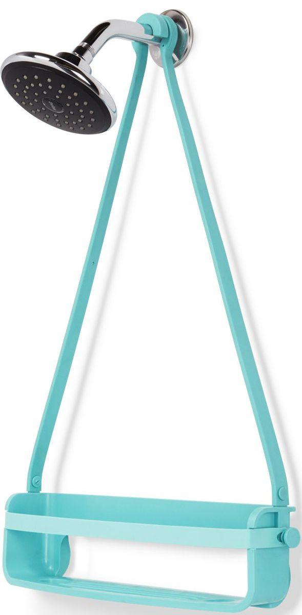 Органайзер для душа Umbra Flex Single, цвет: ярко-голубой, 61 х 41,3 х 1,2 см023475-276Уменьшенный вариант органайзера для душа FLEX. Этот органайзер состоит из одной полочки и 2 крючков по бокам. Может использоваться отдельно или в комплекте со стандарным FLEXом. Благодаря креплениям может устанавливаться на стойку для душа или дверь душевой кабины. Не подвержен ржавчине! Благодаря эластичным перемычкам удержит даже самые большие бутылки с гелями и шампунями. Отверстия в полочках не дадут воде застаиваться. Дизайнер Umbra Studio