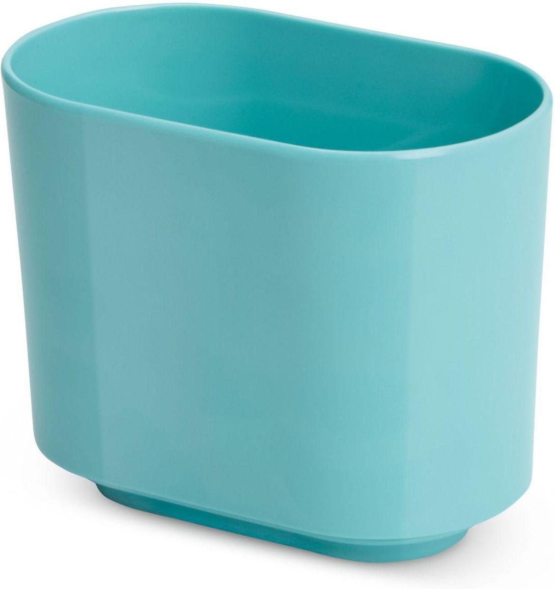 Стакан для зубных щеток Umbra Step, цвет: морская волна, 12,7 х 10,2 х 7 см023836-276Функциональность подставки для зубных щеток неоспорима - где же еще их хранить. А вот как насчет дизайна? В Umbra уверены: такой простой и ежедневно используемый предмет должен выглядеть лаконично, но необычно. Ведь в небольшой ванной комнате не должно быть ничего вызывающе яркого. Немного экспериментировав с формой, дизайнеры создали подставку Step, которая придется кстати в любом доме и вместит зубные щетки всех членов семьи.