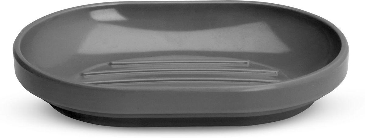 Мыльница Umbra Step, цвет: темно-серый, 2,5 х 10 х 15 см023837-149Step – коллекция минималистичных и функциональных предметов, изготовленных из меламина. Лаконичная и простая мыльница с нескользящим основанием. Дизайн: Tom Chung