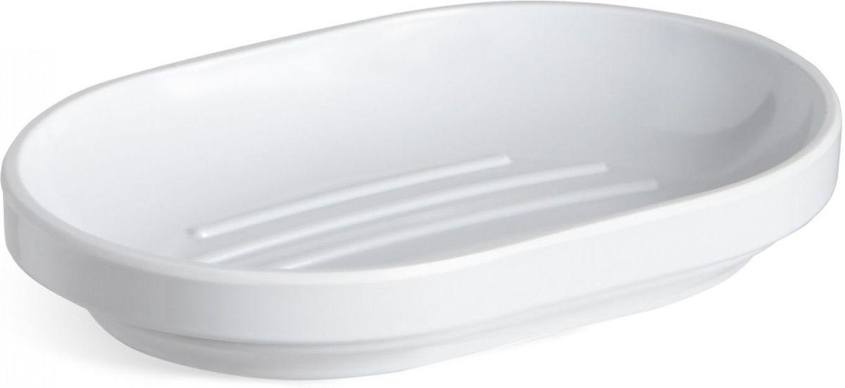 Мыльница Umbra Step, цвет: белый, 2,5 х 14,6 х 10,2 см023837-660Функциональность мыльницы неоспорима - именно она защищает нашу раковину от мыльных подтеков и пятен. А как насчет дизайна? В Umbra уверены: такой простой и ежедневно используемый предмет должен выглядеть лаконично, но необычно. Ведь в небольшой ванной комнате не должно быть ничего вызывающе яркого. Немного экспериментировав с формой, дизайнеры создали мыльницу Step, которая придется кстати в любом доме!