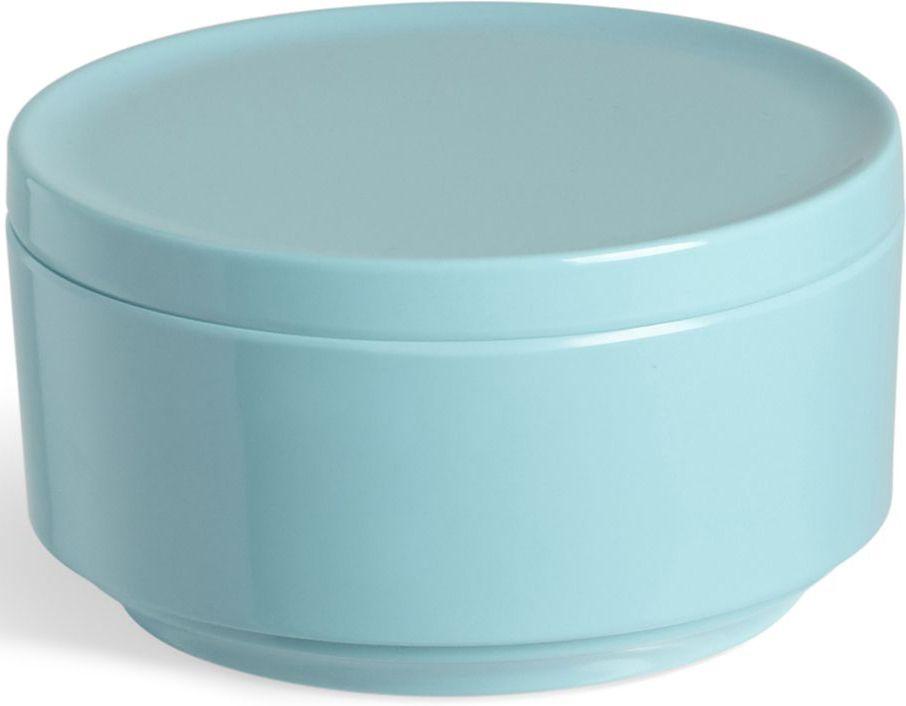 Контейнер для хранения Umbra Step, цвет: ярко-голубой, 7,1 х 12,7 х 12,7 см024000-276Невероятно аккуратный и удобный контейнер из литого меламина для хранения ватных дисков и других мелочей в ванной. Блангодаря крышке, ватные диски не намокнут и не покроются пылью. Сочетается с другими аксессуарами из коллекции STEP Дизайнер Umbra Studio