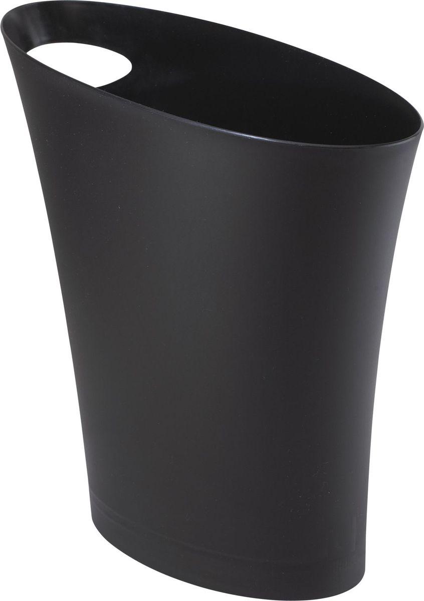 Контейнер мусорный Umbra Skinny, цвет: черный, 34 х 33 х 17 смUP210DFОчередное изобретение Карима Рашида, одного из самых известных промышленных дизайнеров. Оригинальный замысел и функциональный подход обеспечены!Привычные мусорные корзины в виде старых ведер из-под краски или ненужных коробок давно в прошлом. Каждый элемент в современном доме должен иметь определенный смысл, быть креативным и удобным. Вплоть до мусорного ведра. Несмотря на кажущийся миниатюрный размер, ведро вмещает до 7,5 литров, а ручка в виде отверстия на верхней части ведра удобна при переноске.