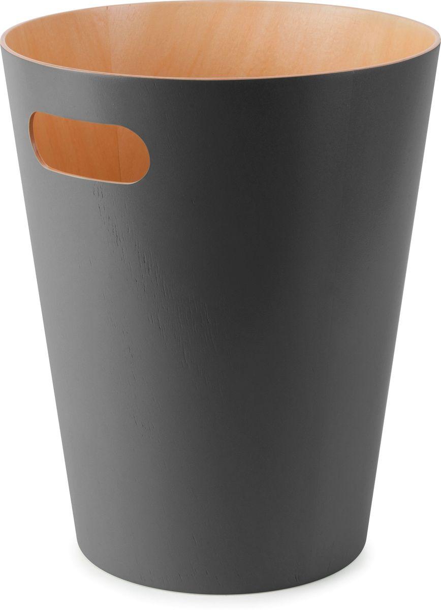 Корзина для мусора Umbra Woodrow, цвет: серый, 23 х 23 х 28 см082780-618Минималистичная корзина для бумаг с удобной ручкой для переноски. Современный дизайн и натуральные материалы позволя.т использовать корзину и в детской, и в офисе. Материал — берёзовая гнутая фанера. Объем — 9 литров. Дизайн: Henry Huang