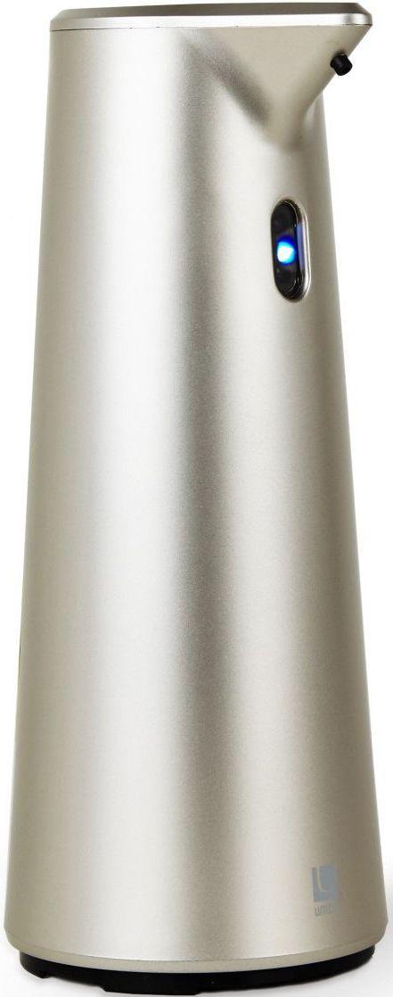 Диспенсер для мыла Umbra Finch, сенсорный, цвет: никель, 18,8 х 9,5 х 9,5 см330301-410Диспенсер из литого пластика с автоматическим сенсорным дозатором. Для получения порции жидкого мыла, средства для мытья посуды или лосьона достаточно просто поднести к дозатору руки: жидкость будет подана автоматически. Широкое горлышко облегчает процесс наполнения емкости. Дозатор оснащен прозрачным окошком — индикатором уровня жидкости. Работает от 4 стандартных батареек AAA (не входят в комплект) Объём 295 мл Дизайн: Alan Wisniewski