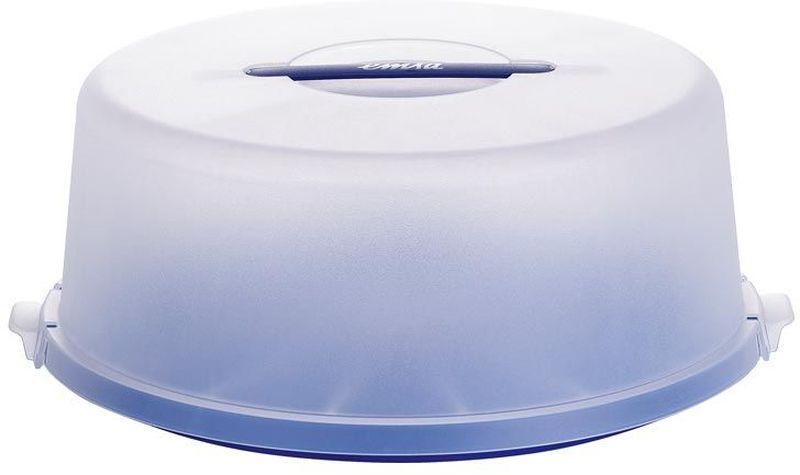 Контейнер для торта Emsa Basic, цвет: синий, диаметр 33 см504918