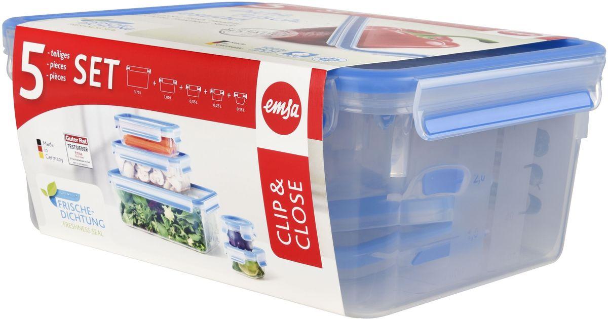 Набор контейнеров Emsa Clip&Close, 5 предметов. 508557508568
