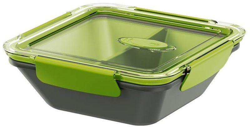 Ланч-бокс Emsa Bento Box, цвет: серый, зеленый, 900 мл513952