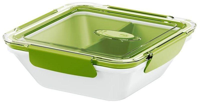 Ланч-бокс Emsa Bento Box, цвет: белый, зеленый, 900 мл513960