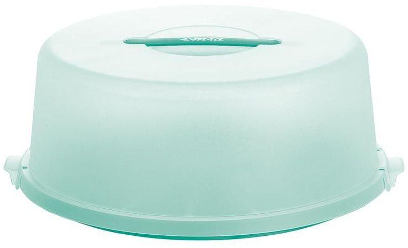 """Контейнер для торта Emsa """"Basic"""", цвет: зеленый, диаметр 33 см. 514286"""