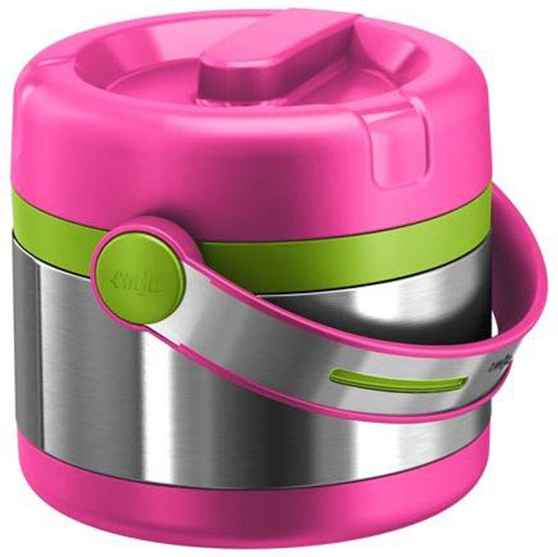 Термос Emsa Mobility Kids, цвет: розовый, зеленый, 650 мл515861