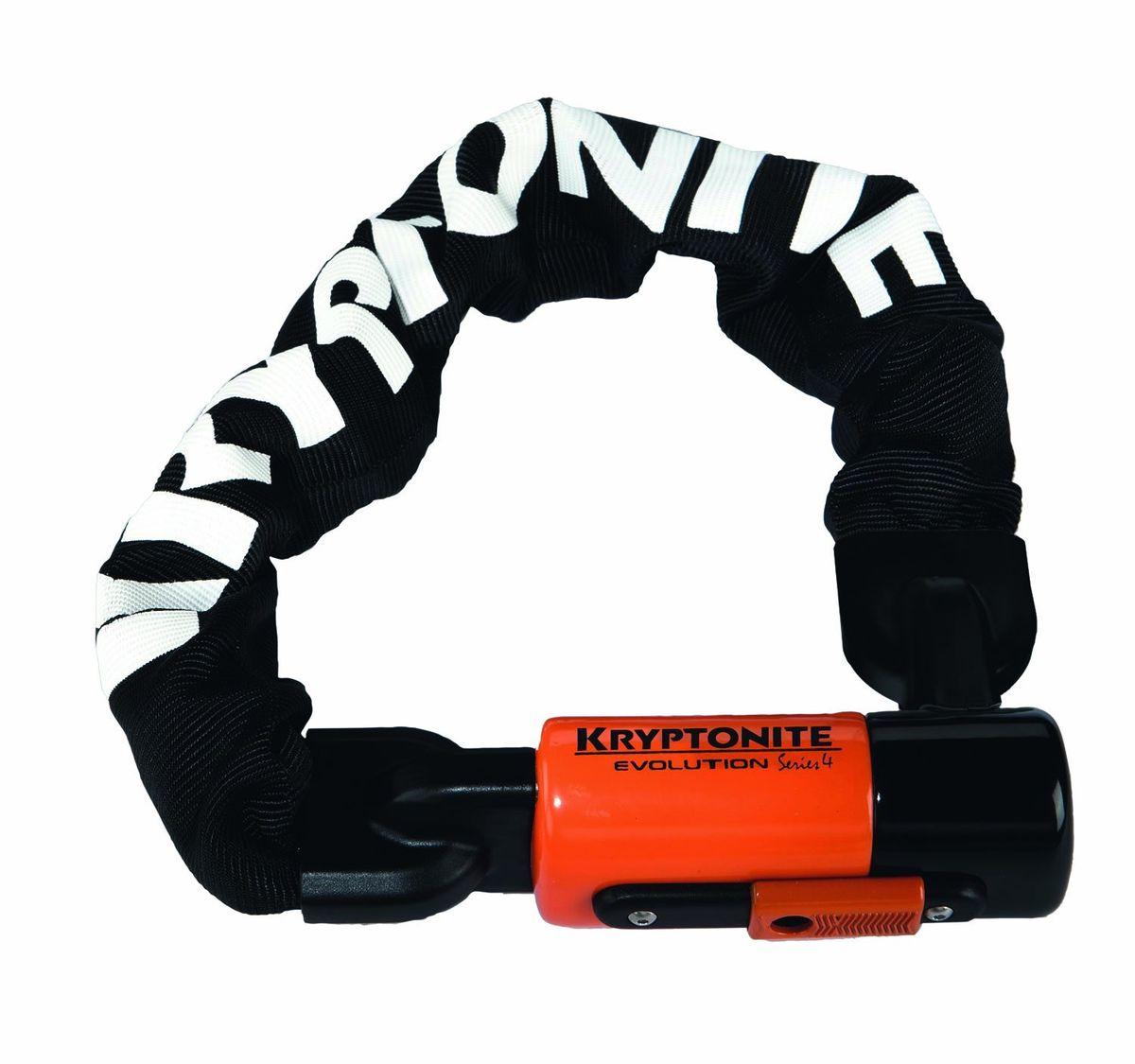 Замок велосипедный Kryptonite Chains Evolution Series 4 1016 Integrated Chain, черный, 10mm x 160cm1508160Мощная цепь Kryptonite Evolution series 4 1016 с толстыми звеньями способна предотвратить кражу вашего любимого транспортного средства.Преимущества велосипедного замка-цепи Kryptonite Evolution Series 4 1016:1. Компактные размеры2. Защита 8 баллов из 10 возможных по шкале Kryptonite для велосипедных замков 3. Три ключа из нержавеющей стали в комплекте (1 с Led-подсветкой)4. Key-Safe Program (2 дополнительных дубликата при потере ключа) 5. Прочный нейлоновый чехол защищающий лакокрасочные покрытия от царапин6. Виниловое покрытие замка7. Закаленные звенья, толщиной 10 мм из марганцевой стали8. Длина цепи 160 см, позволяет закрепить сразу несколько велосипедов9. Защита от пыли и влаги.