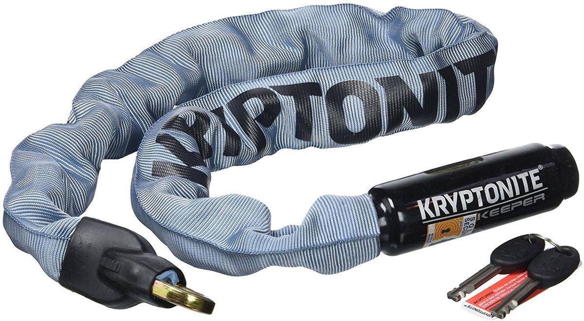 Замок велосипедный Kryptonite Chains Keeper 785 Integrated Chain, цвет: серый, 320720018001607Модель Kryptonite Keeper 785 Color Series — базовая цепь, которая подойдет, чтобы пристегнуть ваш велосипед при походе в магазин или кафе. Если же вы планируете оставить ваш велосипед на более длительный срок, то мы советуем вам купить модель с усиленной защитой. По шкале производителя цепь имеет 5 из 10 уровень надёжности. В комплекте идут 2 ключа. - Закаленные звенья из марганцевой стали толщиной 7 мм - Покрытие цепи из нейлона, замка из винила - Компактные размеры - 2 ключа в комлекте - Программа Key Safe (заказ дополнительного ключа при потере) - Уровень защиты 5 из 10 Диаметр звена цепи: 7 мм Длина цепи: 85 см Вес модели: 1,59 кг.