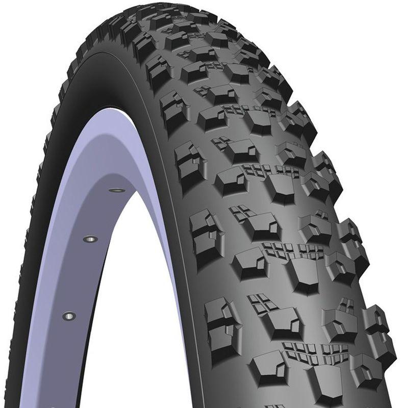 Покрышка велосипедная Mitas R12 Tomcat, цвет: черный, 27,5 х 2,15-10951743-042R12 TOMCAT - покрышка с ярко выраженным рисунком от известного чешского производителя шинной продукции. Эта резина благодаря своему агрессивному протектору в большей степени предназначена для глубокого рыхлого грунта. Отлично показывает себя на крутых поворотах и имеет хорошие самоочищающие свойства. Размер: 27,5 x 2,10(54 - 584) Давление: до 4 атм. Нагрузка: 120 кг. Корд: проволочный. Компаунд: BC. EPI: 22. Вес: 940 г