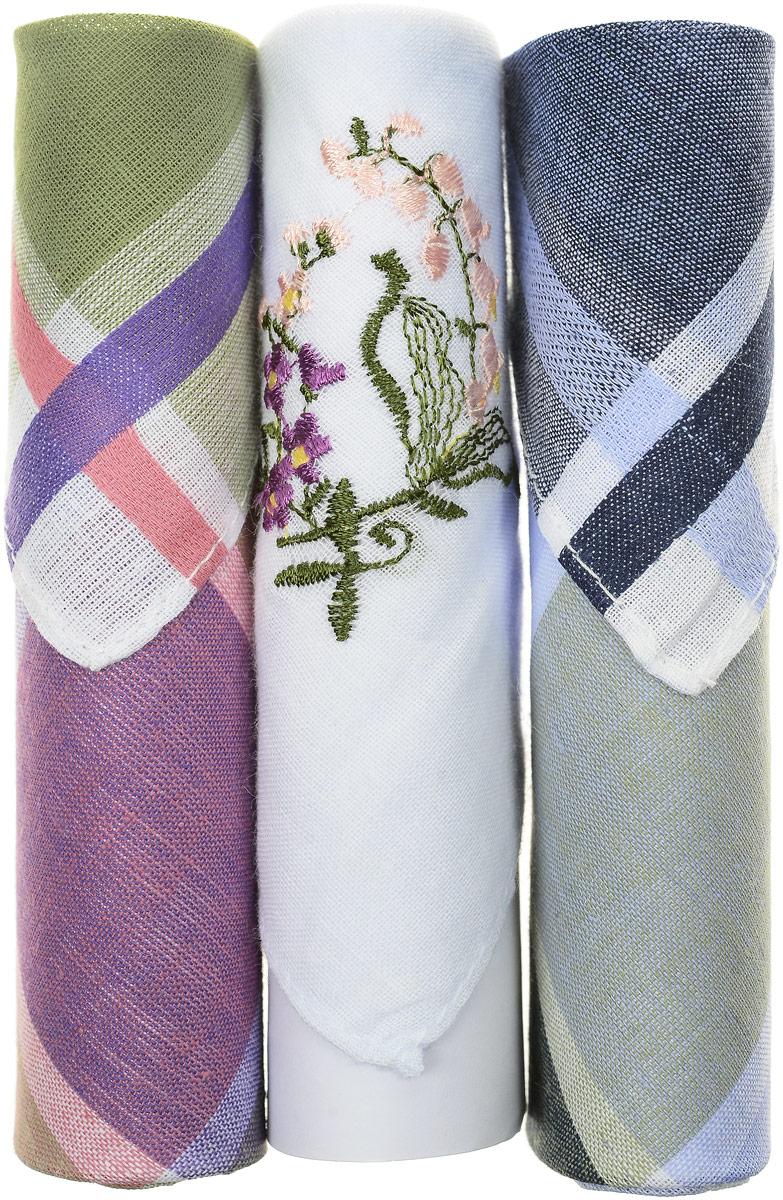 Платок носовой женский Zlata Korunka, цвет: зеленый, синий, белый, 3 шт. 40423-126. Размер 28 см х 28 смСерьги с подвескамиНебольшой женский носовой платок Zlata Korunka изготовлен из высококачественного натурального хлопка, благодаря чему приятен в использовании, хорошо стирается, не садится и отлично впитывает влагу. Практичный и изящный носовой платок будет незаменим в повседневной жизни любого современного человека. Такой платок послужит стильным аксессуаром и подчеркнет ваше превосходное чувство вкуса.В комплекте 3 платка.