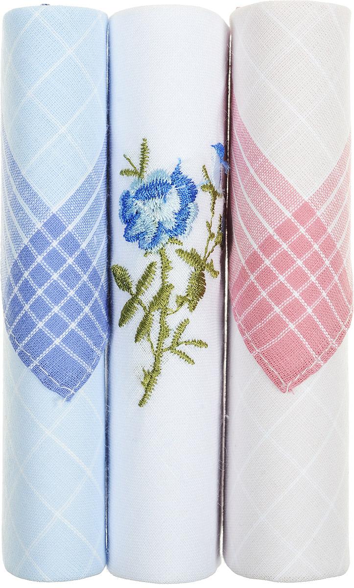 Платок носовой женский Zlata Korunka, цвет: голубой, белый, розовый, 3 шт. 40423-88. Размер 28 см х 28 см40423-88Небольшой женский носовой платок Zlata Korunka изготовлен из высококачественного натурального хлопка, благодаря чему приятен в использовании, хорошо стирается, не садится и отлично впитывает влагу. Практичный и изящный носовой платок будет незаменим в повседневной жизни любого современного человека. Такой платок послужит стильным аксессуаром и подчеркнет ваше превосходное чувство вкуса. В комплекте 3 платка.