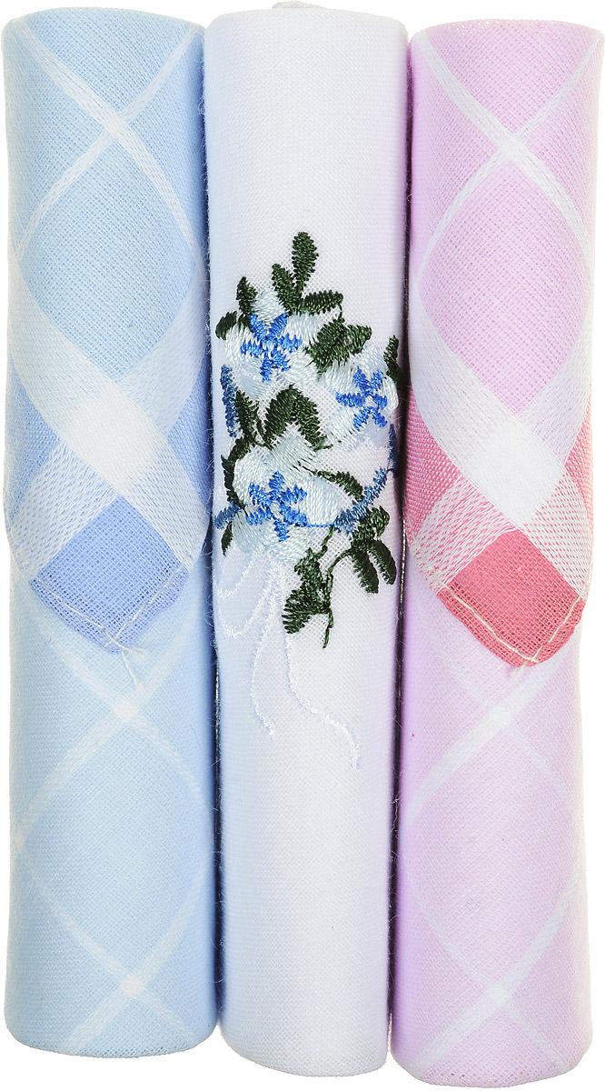 Платок носовой женский Zlata Korunka, цвет: голубой, белый, розовый, 3 шт. 40423-32. Размер 28 см х 28 см40423-32Небольшой женский носовой платок Zlata Korunka изготовлен из высококачественного натурального хлопка, благодаря чему приятен в использовании, хорошо стирается, не садится и отлично впитывает влагу. Практичный и изящный носовой платок будет незаменим в повседневной жизни любого современного человека. Такой платок послужит стильным аксессуаром и подчеркнет ваше превосходное чувство вкуса. В комплекте 3 платка.