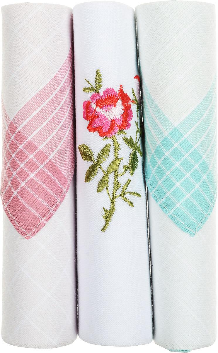 Платок носовой женский Zlata Korunka, цвет: розовый, белый, бирюзовый, 3 шт. 40423-89. Размер 28 см х 28 см40423-89Небольшой женский носовой платок Zlata Korunka изготовлен из высококачественного натурального хлопка, благодаря чему приятен в использовании, хорошо стирается, не садится и отлично впитывает влагу. Практичный и изящный носовой платок будет незаменим в повседневной жизни любого современного человека. Такой платок послужит стильным аксессуаром и подчеркнет ваше превосходное чувство вкуса. В комплекте 3 платка.
