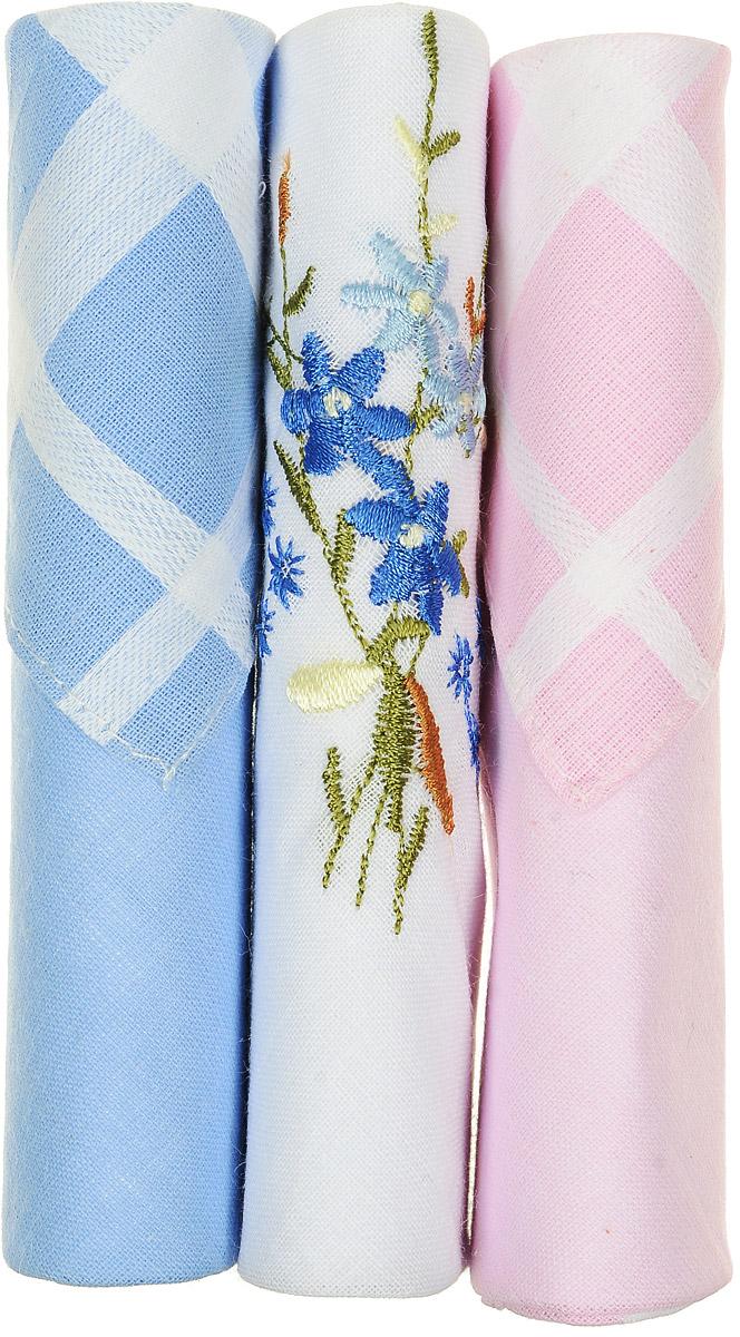 Платок носовой женский Zlata Korunka, цвет: голубой, белый, розовый, 3 шт. 40423-52. Размер 28 см х 28 см40423-52Небольшой женский носовой платок Zlata Korunka изготовлен из высококачественного натурального хлопка, благодаря чему приятен в использовании, хорошо стирается, не садится и отлично впитывает влагу. Практичный и изящный носовой платок будет незаменим в повседневной жизни любого современного человека. Такой платок послужит стильным аксессуаром и подчеркнет ваше превосходное чувство вкуса. В комплекте 3 платка.