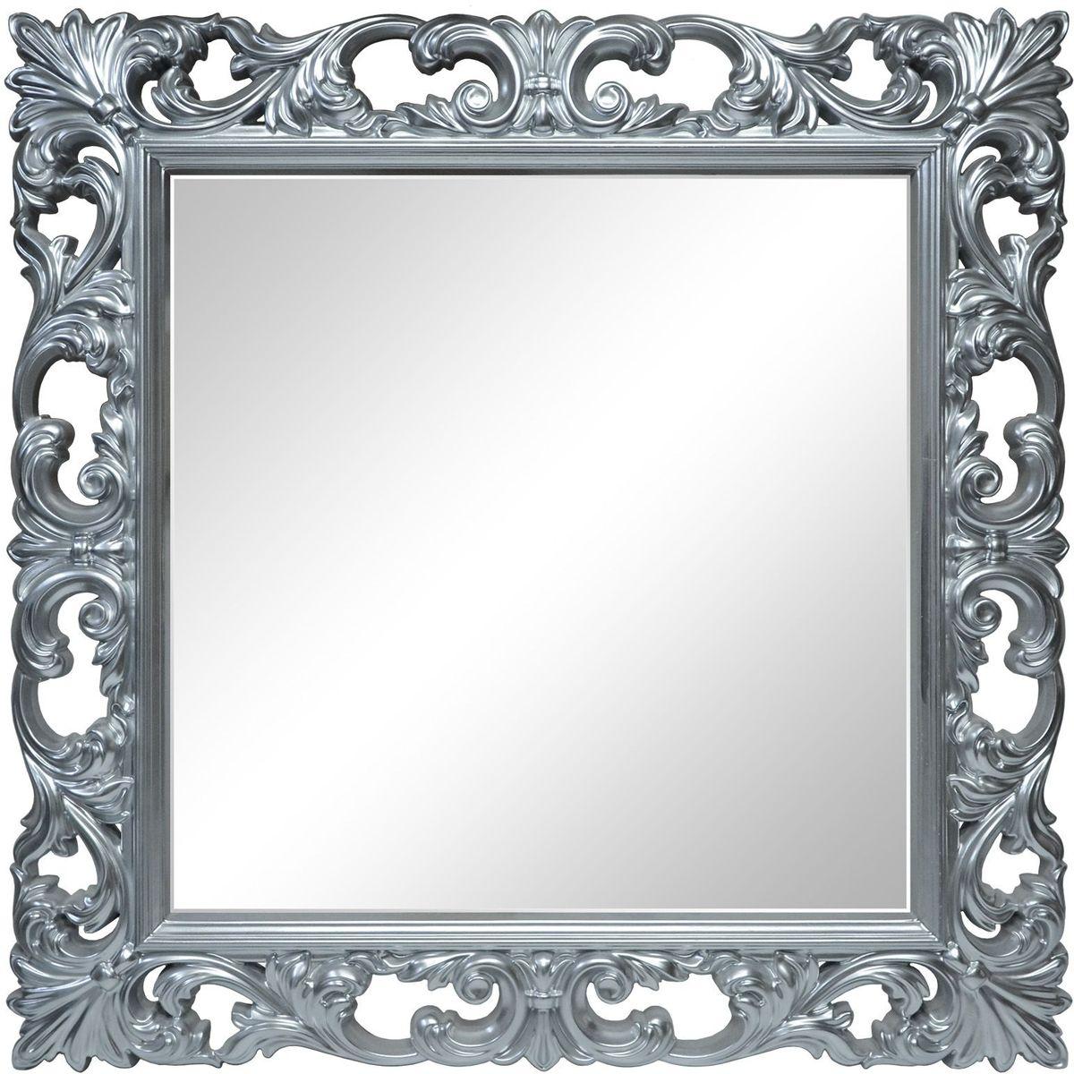 Зеркало VezzoLLi Нованто, цвет: серый металлик, 90 х 90 см25-74Подвесы в комплекте. Видимый размер зеркала 63х63 см. Ширина обрамления 13,5 см.