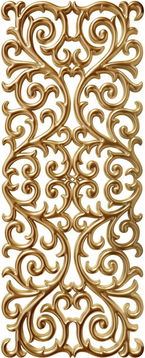 Панно декоративное VezzoLLi, цвет: золотой, 60 х 150 смUP210DFС обратной стороны панно снабжено четырьмя металлическими подвесами для возможности разместить его и вертикально и горизонтально.