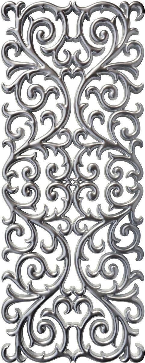 Панно декоративное VezzoLLi, цвет: серый металлик, 60 х 150 см35-74С обратной стороны панно снабжено четырьмя металлическими подвесами для возможности разместить его и вертикально и горизонтально.