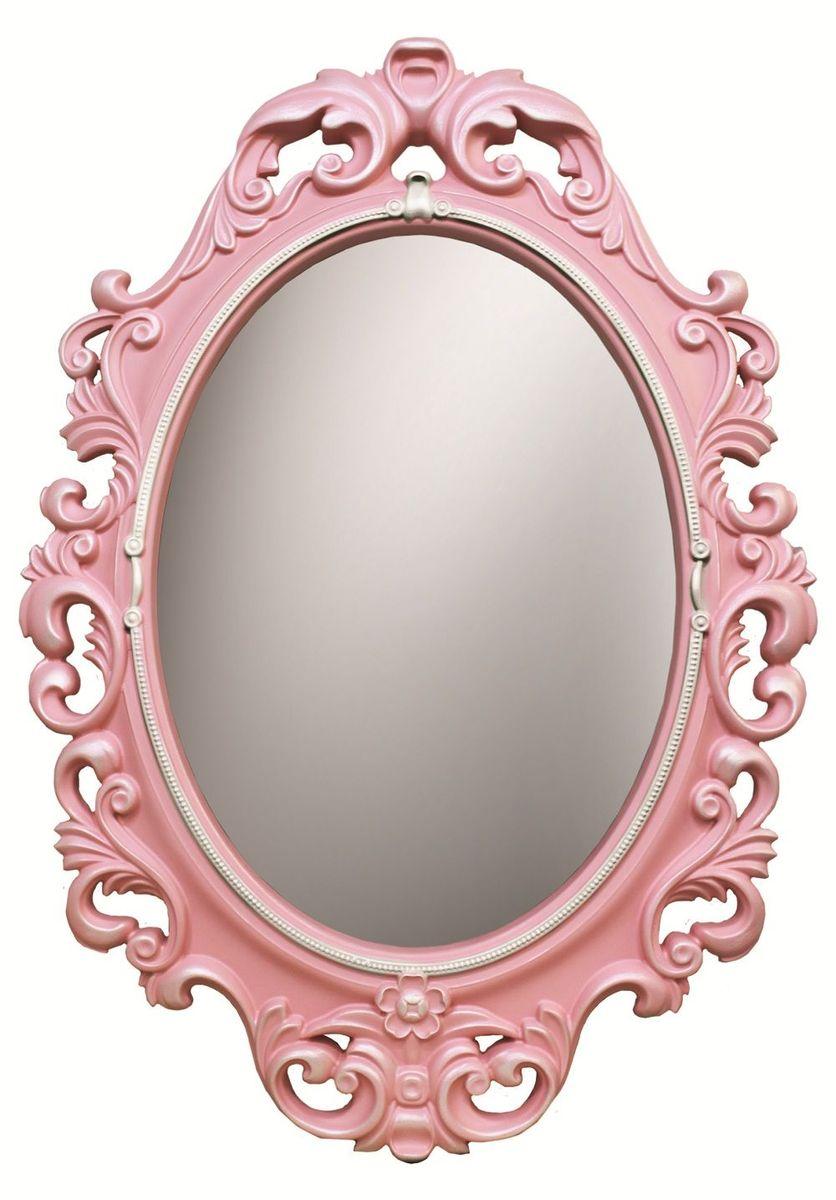 Зеркало VezzoLLi Винтаж, цвет: розовый, 67 х 96 см6-19С обратной стороны зеркало снабжено двумя металлическими подвесами. Видимый размер зеркального полотна 60х43,5 см.