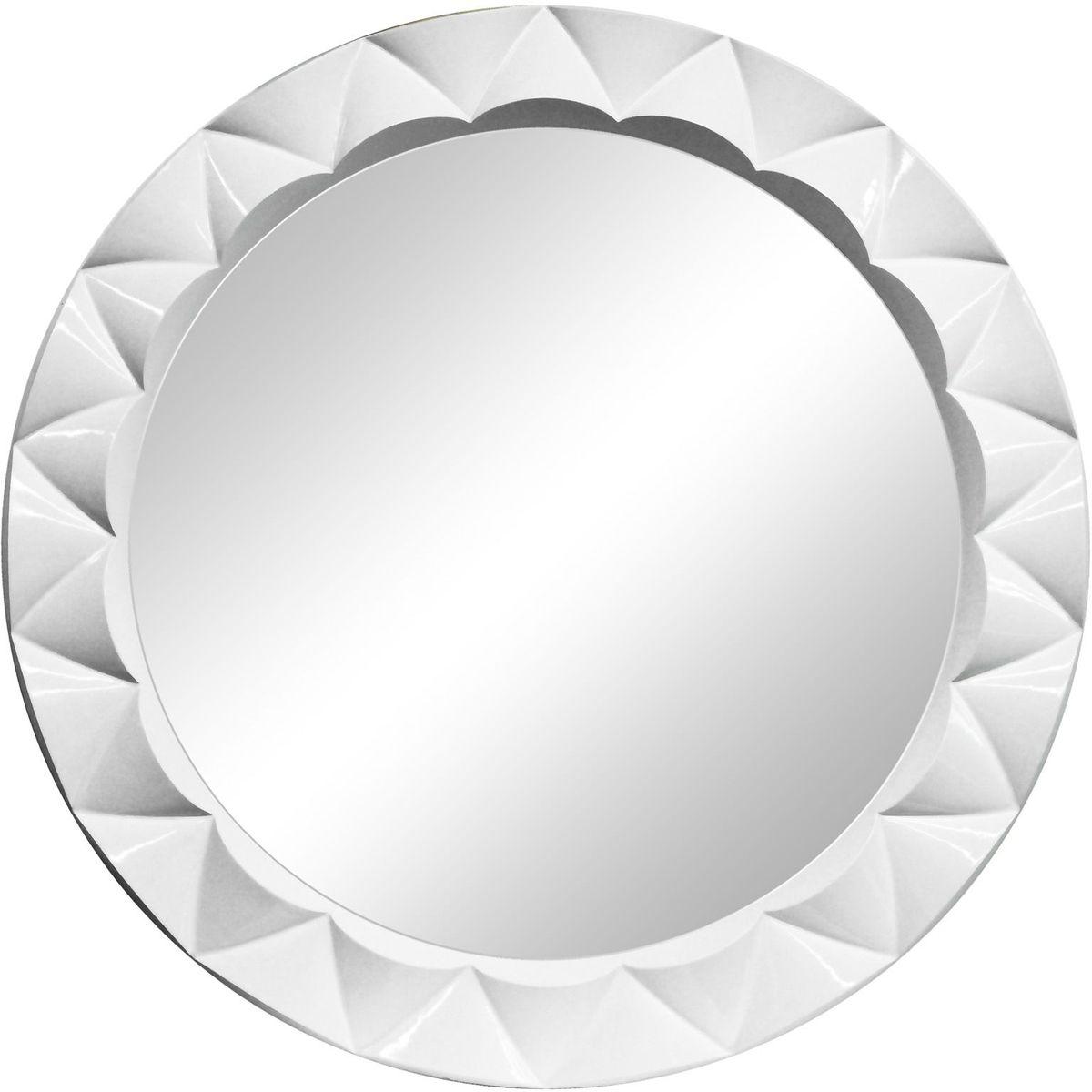 Зеркало VezzoLLi Этерно, цвет: белый, диаметр 85 см8-49С обратной стороны зеркало снабжено двумя металлическими подвесами. Видимый размер зеркального полотна D-65 см.