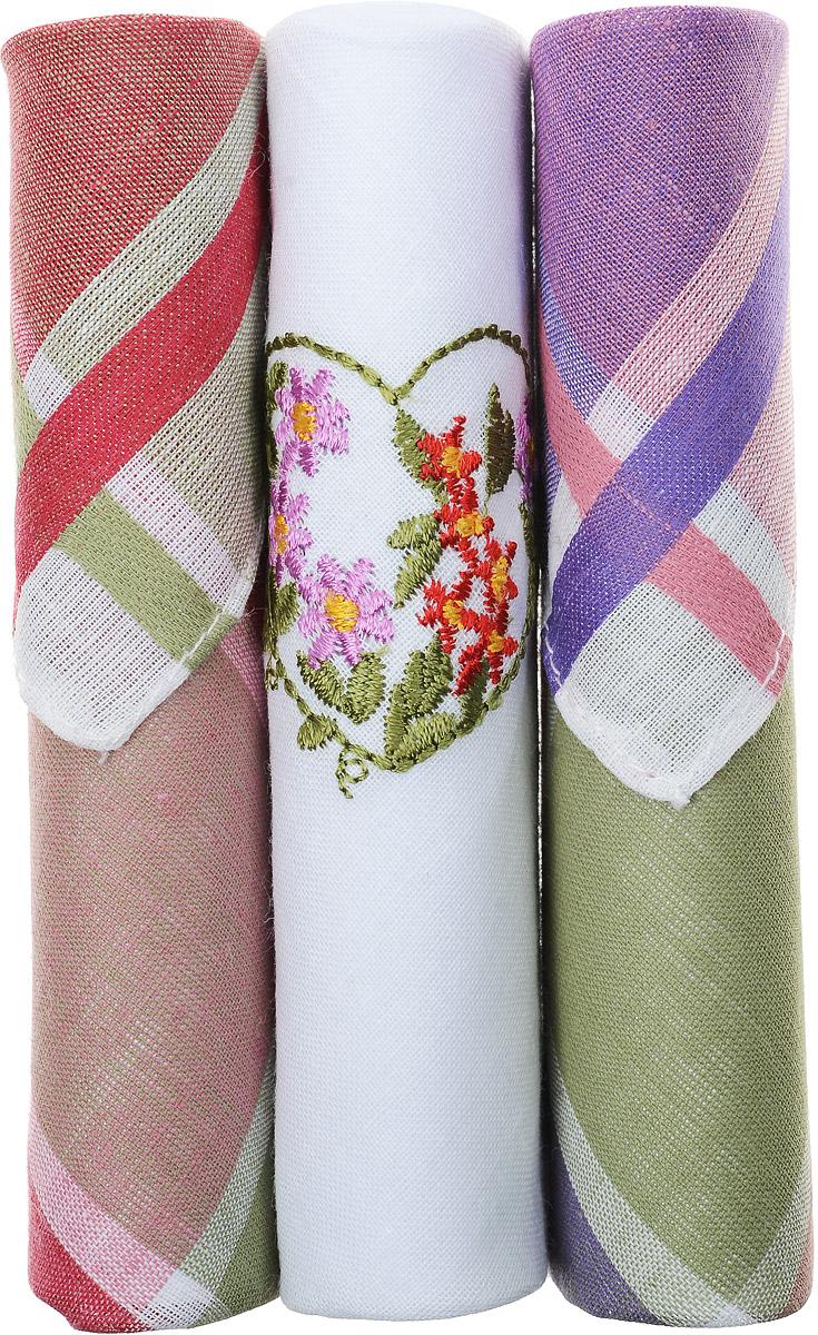 Платок носовой женский Zlata Korunka, цвет: красный, белый, фиолетовый, 3 шт. 40423-55. Размер 28 см х 28 см40423-55Небольшой женский носовой платок Zlata Korunka изготовлен из высококачественного натурального хлопка, благодаря чему приятен в использовании, хорошо стирается, не садится и отлично впитывает влагу. Практичный и изящный носовой платок будет незаменим в повседневной жизни любого современного человека. Такой платок послужит стильным аксессуаром и подчеркнет ваше превосходное чувство вкуса. В комплекте 3 платка.