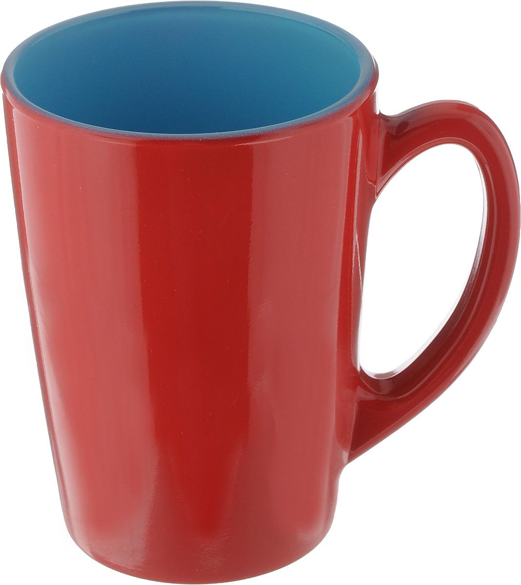 Кружка Luminarc Spring Break, цвет: красный, голубой, 320 мл. J3417-1J3417-1_красный, голубойКружка Luminarc Spring Break, изготовленная из ударопрочного стекла, прекрасно подойдет для горячих и холодных напитков. Она дополнит коллекцию вашей кухонной посуды и будет служить долгие годы. Можно использовать в микроволновой печи и мыть в посудомоечной машине. Диаметр кружки (по верхнему краю): 8 см. Высота стенки кружки: 11 см.