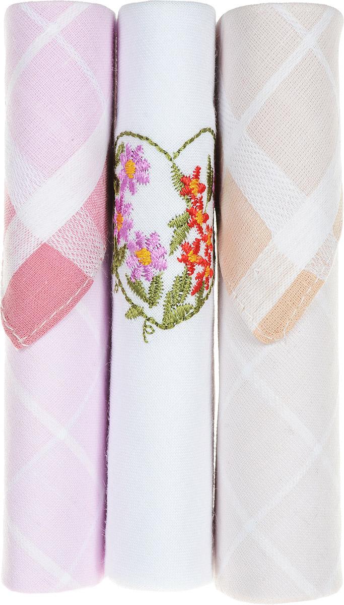 Платок носовой женский Zlata Korunka, цвет: розовый, белый, бежевый, 3 шт. 40423-34. Размер 28 см х 28 см40423-34Небольшой женский носовой платок Zlata Korunka изготовлен из высококачественного натурального хлопка, благодаря чему приятен в использовании, хорошо стирается, не садится и отлично впитывает влагу. Практичный и изящный носовой платок будет незаменим в повседневной жизни любого современного человека. Такой платок послужит стильным аксессуаром и подчеркнет ваше превосходное чувство вкуса. В комплекте 3 платка.