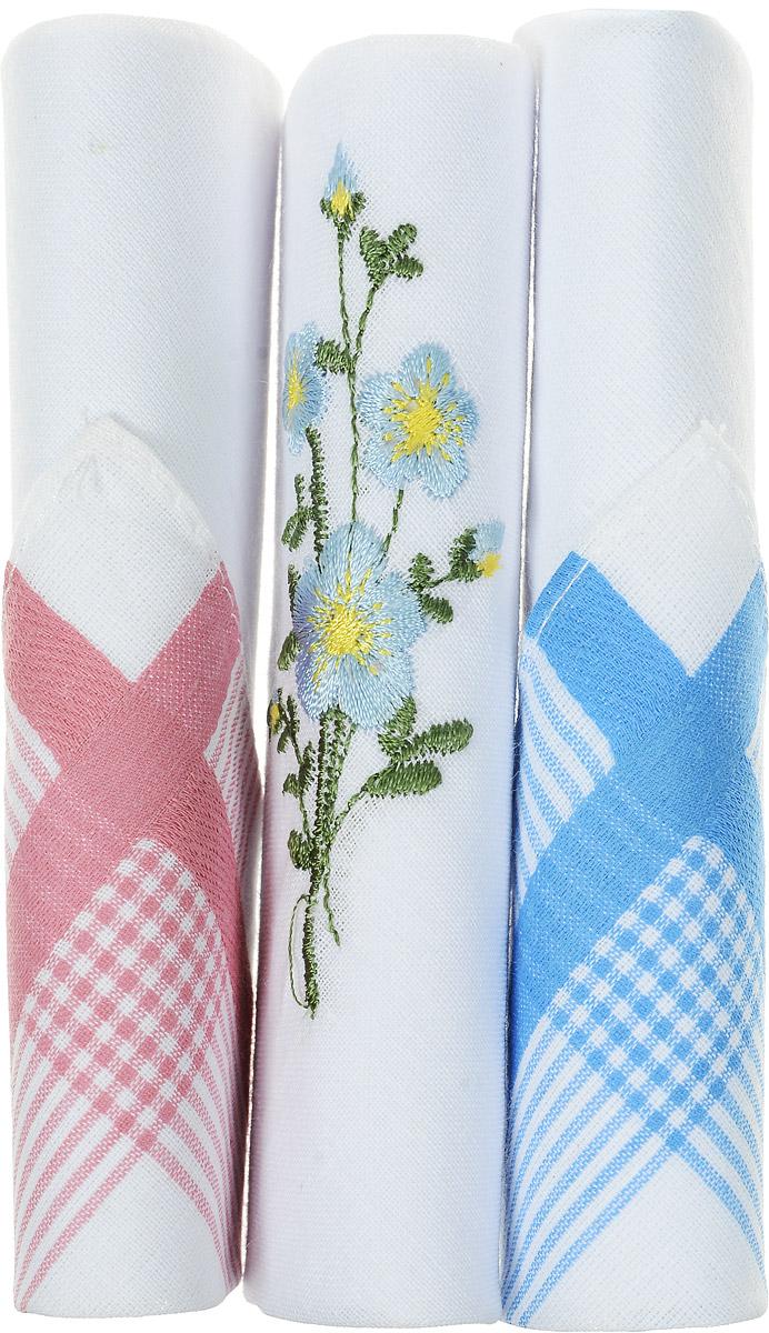 Платок носовой женский Zlata Korunka, цвет: голубой, белый, розовый, 3 шт. 40423-109. Размер 28 см х 28 см40423-109Небольшой женский носовой платок Zlata Korunka изготовлен из высококачественного натурального хлопка, благодаря чему приятен в использовании, хорошо стирается, не садится и отлично впитывает влагу. Практичный и изящный носовой платок будет незаменим в повседневной жизни любого современного человека. Такой платок послужит стильным аксессуаром и подчеркнет ваше превосходное чувство вкуса. В комплекте 3 платка.