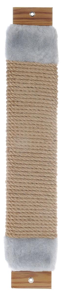 Когтеточка Неженка, джутовая, с кошачьей мятой, цвет: серый, бежевый, 51 х 10 х 3,5 см7188_серыйКогтеточка Неженка поможет сохранить мебель и ковры в доме от когтей вашего любимца, стремящегося удовлетворить свою естественную потребность точить когти. Основание изделия изготовлено из ДСП и обтянуто прочной тканью, а столб для точения когтей обтянут джутом. Товар продуман в мельчайших деталях и, несомненно, понравится вашей кошке. Всем кошкам необходимо стачивать когти. Когтеточка - один из самых необходимых аксессуаров для кошки. Для приучения к когтеточке можно натереть ее сухой валерьянкой или кошачьей мятой. Когтеточка поможет вашему любимцу стачивать когти и при этом не портить вашу мебель.