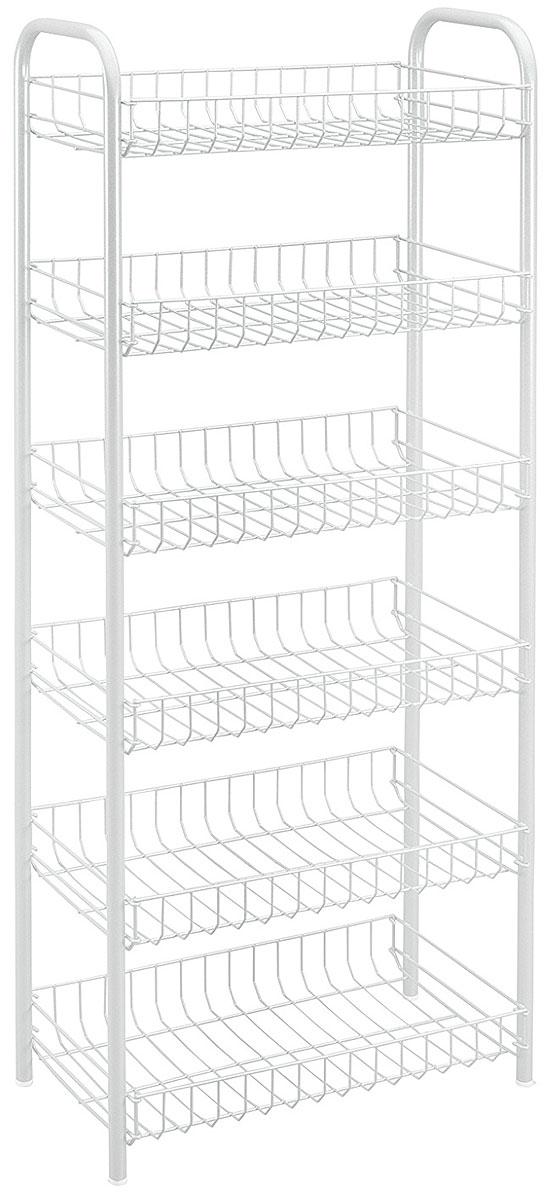 Этажерка Monaco, цвет: белый, 6 полок, 41 x 23 x 104 смES-412Этажерка Monaco выполнена из стали с политермическим покрытием. Состоит из шести полочек. Этажерка предназначена для использования в любых помещениях. Идеально подходит для использования на кухнях, ванных комнатах. Общий размер: 41 х 23 х 104 см.Размер полки: 37,5 х 21,5 х 5,5 см.