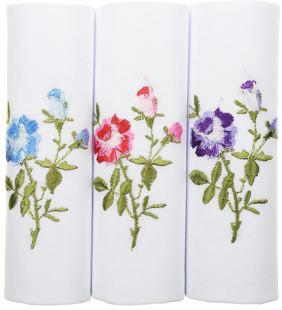 Платок носовой женский Zlata Korunka, цвет: белый, мультиколор, 3 шт. 40320-3. Размер 43 см х 43 см40320-3Оригинальный женский носовой платок Zlata Korunka изготовлен из высококачественного натурального хлопка, благодаря чему приятен в использовании, хорошо стирается, не садится и отлично впитывает влагу. Практичный и изящный носовой платок будет незаменим в повседневной жизни любого современного человека. Такой платок послужит стильным аксессуаром и подчеркнет ваше превосходное чувство вкуса.