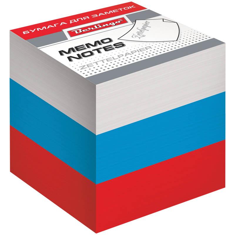 Berlingo Бумага для заметок Триколор цветная 9 х 9 х 9 смLNn_01239Трехцветный блок бумаги для заметок. Упакован в термоусадочную пленку