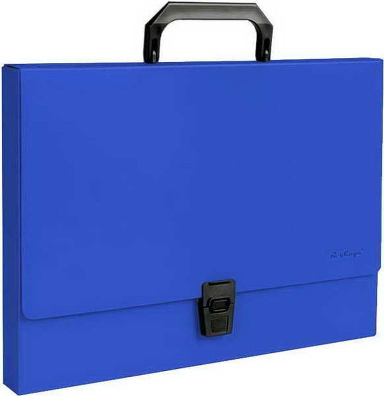 Berlingo Папка-портфель Standard цвет синийMP2310На замке. Укрепленная ручка. Материал - жесткий пластик. Стильный дизайн и популярные офисные цвета. Индивидуальная упаковка в пакет.