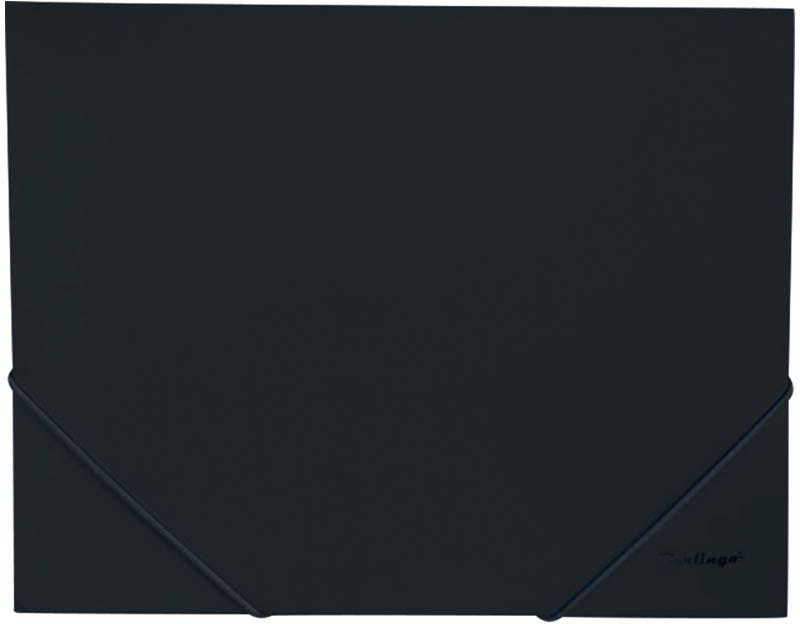 Berlingo Папка на резинке Standard цвет черныйMB2326Надёжные угловые резинки. Материал - плотный пластик, толщина - 0,5 мм. Предназначена для транспортировки и хранения большого количества бумаг. Клапаны для защиты документов от повреждений. Классические офисные цвета.