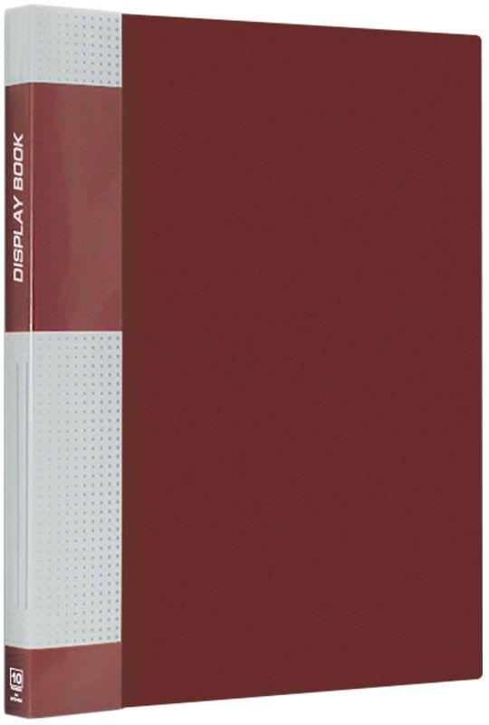 Berlingo Папка Standard с 10 вкладышами цвет красный611308Функциональная папка Standard с прозрачными вкладышами удобна для хранения и демонстрации документов А4. На корешке имеется сменная этикетка для маркировки.Изготовлена из плотного пластика. Ширина корешка - 9 мм.