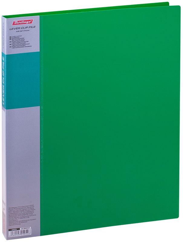 Berlingo Папка с зажимом Standard цвет зеленыйMM2337Папка позволяет хранить и переносить документы, защищает их от пыли. Металлический зажим надежно фиксирует документы, не повреждая их. Изготовлена из качественного плотного пластика. Дополнительный внутренний карман. Сменная этикетка на корешке для маркировки. Индивидуальная упаковка в пленку. В ассортименте классические офисные цвета.