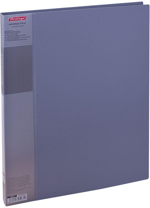 Berlingo Папка-скоросшиватель Standard цвет серый6-203_цв. Полоска, черныйПапка с зажимом Standard позволяет хранить и переносить документы, защищает их от пыли. Пружинный механизм из металла надежно фиксирует документы. Позволяет хранить документы формата А4. Подходит как для перфорированных документов, так и для папок-вкладышей со стандартной перфорацией. Изготовлена из плотного пластика. Классические офисные цвета в ассортименте. В корешок папки вставляется лист для описания и названия, внутри папки имеется кармашек для мелких бумаг.
