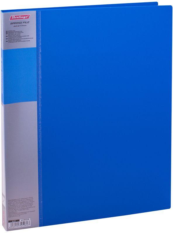 Berlingo Папка-скоросшиватель Standard цвет синий6-203_цв. Полоска, черныйПапка с зажимом Standard позволяет хранить и переносить документы, защищает их от пыли. Пружинный механизм из металла надежно фиксирует документы. Позволяет хранить документы формата А4. Подходит как для перфорированных документов, так и для папок-вкладышей со стандартной перфорацией. Изготовлена из плотного пластика. Классические офисные цвета в ассортименте. В корешок папки вставляется лист для описания и названия, внутри папки имеется кармашек для мелких бумаг