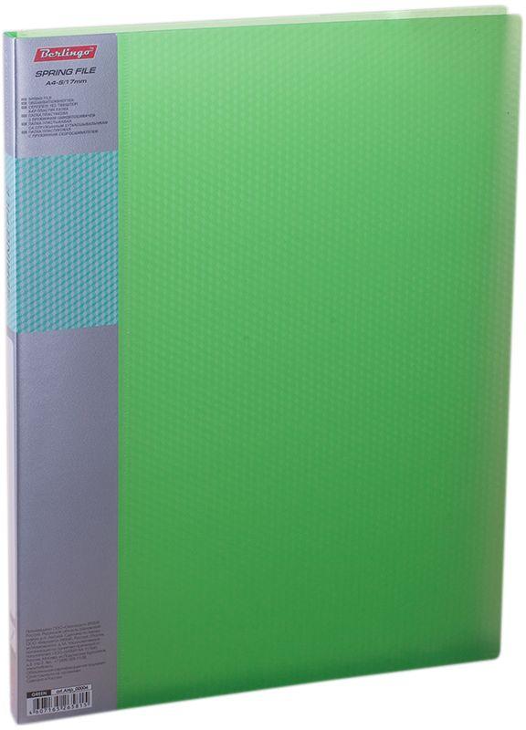 Berlingo Папка-скоросшиватель Diamond цвет прозрачный зеленый13089Папка с зажимом Diamond позволяет хранить и переносить документы, защищает их от пыли. Пружинный механизм из металла надежно фиксирует документы. Позволяет хранить документы формата А4. Подходит как для перфорированных документов, так и для папок-вкладышей со стандартной перфорацией. Изготовлена из плотного полупрозрачного пластика. Классические офисные цвета в ассортименте. Обложка папки оформлена легким голографическим принтом в кубик. В корешок папки вставляется лист для описания и названия.