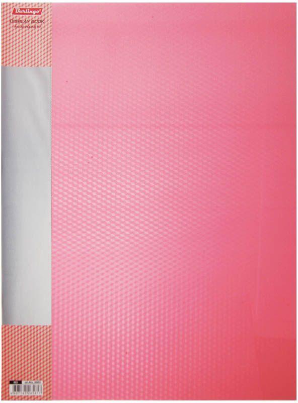 Berlingo Папка Diamond с 30 вкладышами цвет красный499962Функциональная папка с прозрачными вкладышами удобна для хранения и демонстрации документов А4. На папке предусмотрена сменная этикетка на корешке для маркировки. Изготовлена из фактурного полупрозрачного пластика.Ширина корешка - 17 мм.