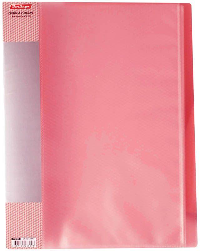 Berlingo Папка Diamond с 40 вкладышами цвет красныйAVp_40003Функциональная папка «Diamond» с прозрачными вкладышами удобна для хранения и демонстрации документов А4. На папках предусмотрена сменная этикетка на корешке для маркировки. Изготовлены из фактурного полупрозрачного пластика. Индивидуальная упаковка в пакет. Изготовлена из плотного пластика (толщина - 0,7 мм).