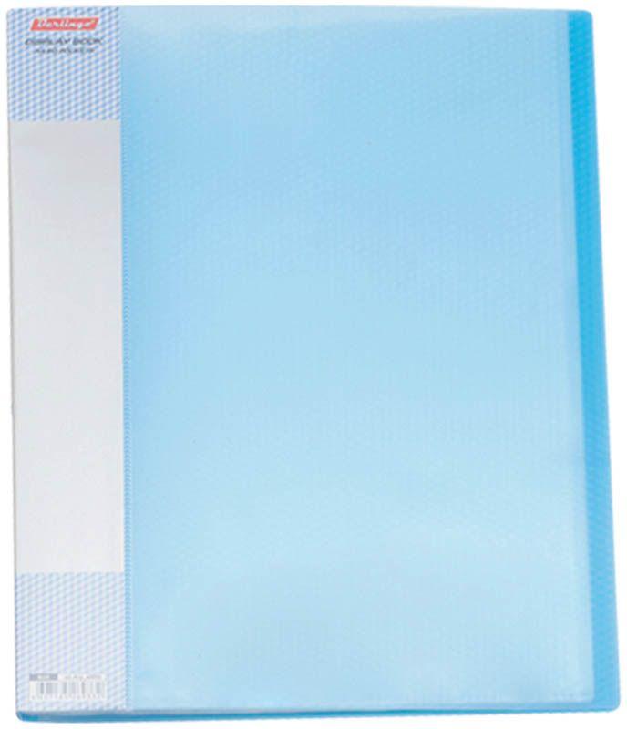 Berlingo Папка Diamond с 60 вкладышами цвет синийFS-36054Функциональная папка с прозрачными вкладышами удобна для хранения и демонстрации документов А4. На папке предусмотрена сменная этикетка на корешке для маркировки. Изготовлена из фактурного полупрозрачного пластика.Ширина корешка - 21 мм.