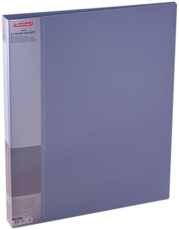 Berlingo Папка на 2-х кольцах Standard цвет серыйFS-36054Папка на 2-х кольцах Standard для хранения перфорированных документов изготовлена из пластика. Кольцевой механизм надежно держит документы и файлы. В корешок папки вставляется лист для описания и названия. Классические офисные цвета в ассортименте.