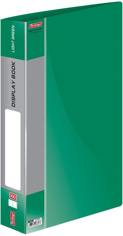 Berlingo Папка Standard со 100 вкладышами цвет зеленыйFS-36054Функциональная папка Standard с прозрачными вкладышами удобна для хранения и демонстрации документов А4. Имеется внутренний карман для быстрого извлечения необходимых документов, а на корешке - сменная этикетка для маркировки.Изготовлена папка из плотного пластика. Ширина корешка - 40 мм.