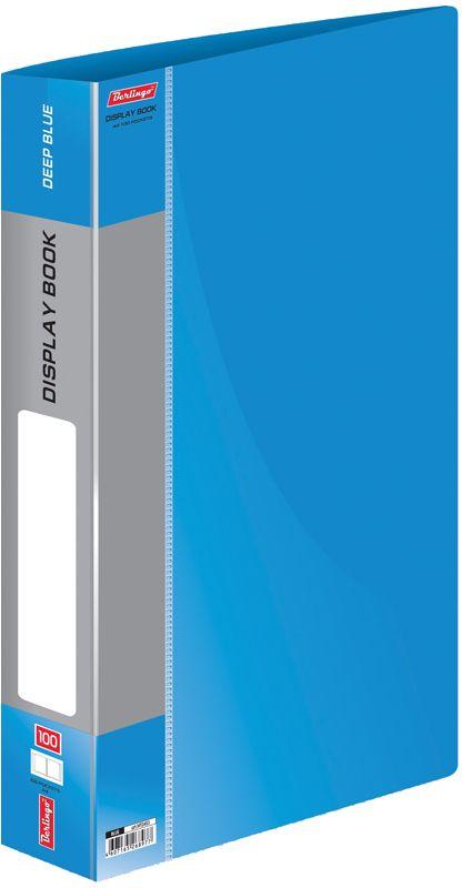Berlingo Папка Standard со 100 вкладышами цвет синий13089Функциональная папка Standard с прозрачными вкладышами удобна для хранения и демонстрации документов А4. Имеется внутренний карман для быстрого извлечения необходимых документов, а на корешке - сменная этикетка для маркировки.Изготовлена папка из плотного пластика. Ширина корешка - 40 мм.